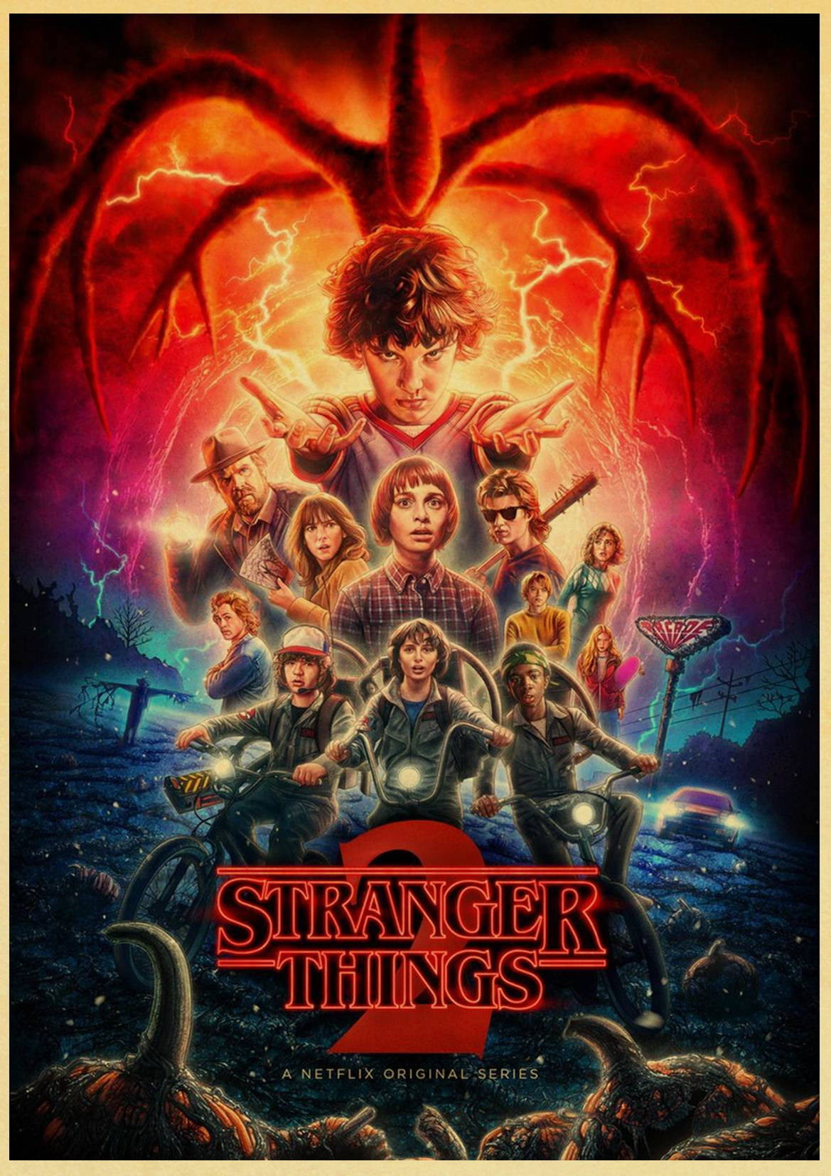 Stranger Things Classic Retro Vintage Poster