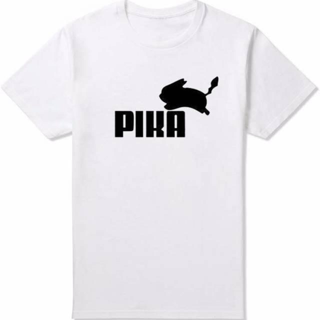 Pokemon Pika Men T-Shirt Pikachu Cotton