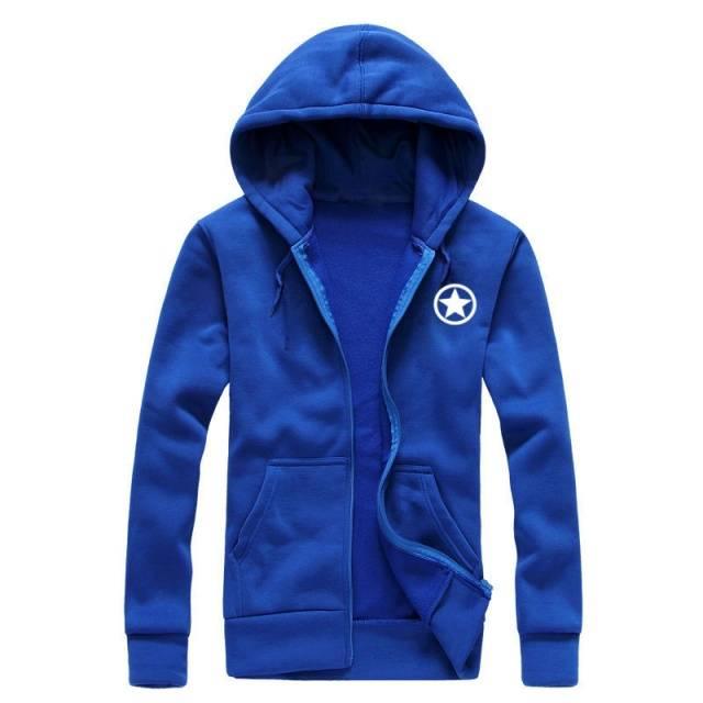 Marvel Captain America 2 Men's Hoodie Sweatshirt Jacket