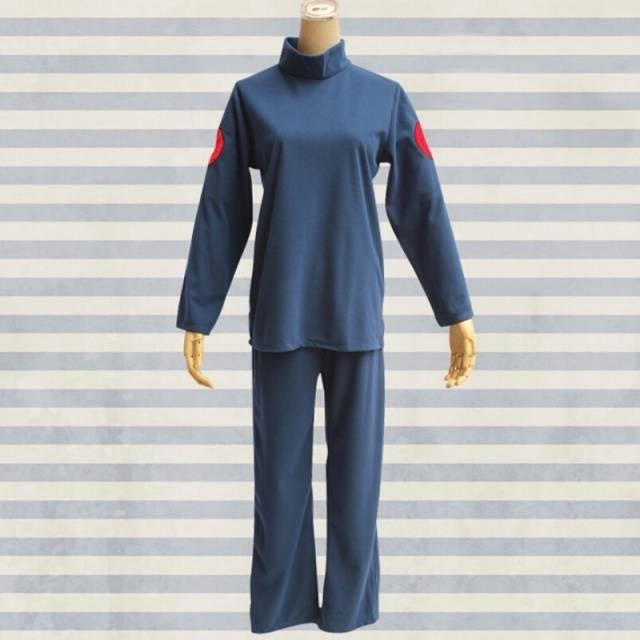 Anime Naruto Hatake Kakashi Blue Top and Pants Cosplay Costume Unisex
