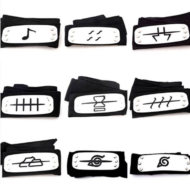 Anime Naruto Ninja Cosplay Headbands – Kakashi Itachi Akatsuki Madara