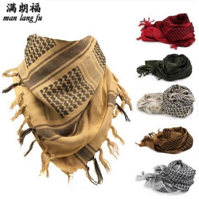 Muslim Hijab Shemagh Arab Windproof Scarf 100% Thick Cotton