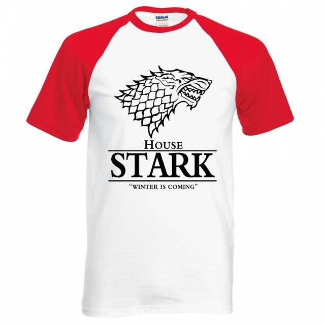 Game of Thrones House Stark Winter Is Coming Mens T-Shirt Raglan Baseball Style